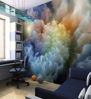 Moody Clouds Wall Mural