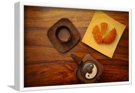 Moon cake and green tea, France-Godong-Framed Photographic Print