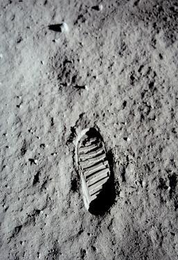 Moon Footprint (Buzz Aldrin Bootprint) Art Poster Print