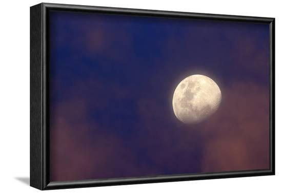 Moon in clouds--Framed Photographic Print