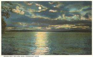 Moon on Lake Erie, Conneaut, Ohio