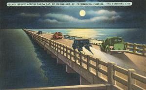 Moon over Gandy Bridge, St. Petersburg, Florida