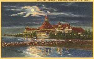 Moon over Hotel del Coronado, San Diego, California