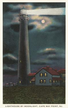 Moon over Lighthouse, Cape May, New Jersey