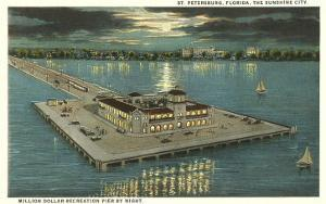 Moon over Pier, St. Petersburg, Florida