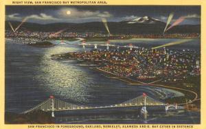 Moon over San Francisco, California
