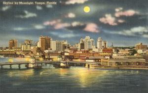 Moon over Tampa, Florida