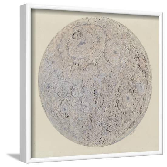 Moon surface with Craters--Framed Art Print