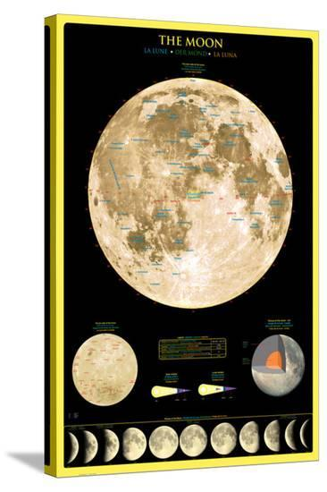 Moon--Stretched Canvas Print