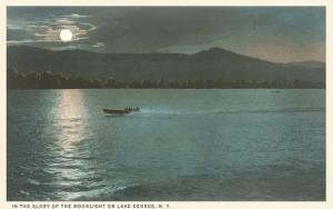 Moonlight on Lake George, New York