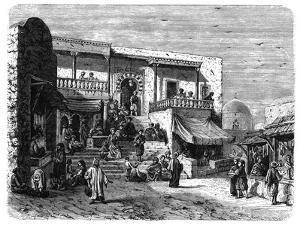 Moorish Coffee House at Sidi Bou Said, Tunis, C1890