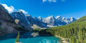 Moraine Lake at Banff National Park in the Canadian Rockies Near Lake Louise, Alberta, Canada