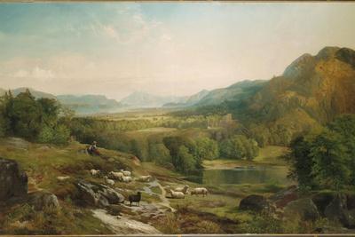 Minding the Flock, C.1867