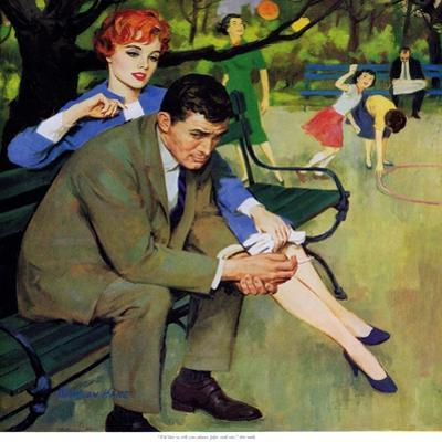 """Hand-Me-Down Girl - Saturday Evening Post """"Men at the Top"""", May 2, 1959 pg.32"""