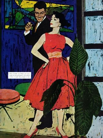"""Marriage Bait  - Saturday Evening Post """"Men at the Top"""", August 17, 1957 pg.26"""