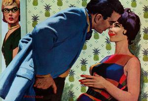 """The Nesting Instinct - Saturday Evening Post """"Men at the Top"""", March 21, 1959 pg.30 by Morgan Kane"""