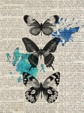 Newsprint Butterflies by Morgan Yamada