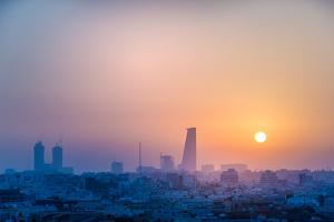 Morning City Scape of Jeddah City Saudi Arabia