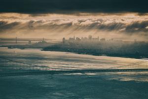 Morning Clouds and Light Beams, San Francisco