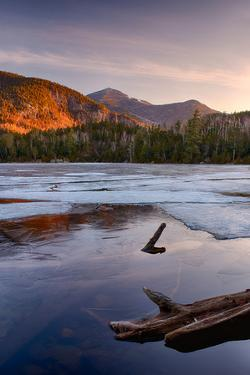 Morning Light on Whiteface Mountain and Spring Thaw on Copperas Pond, Adirondack Park