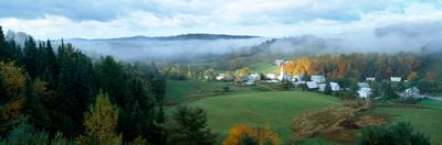 Morning view of East Corinth Village, Corinth, Vermont, USA