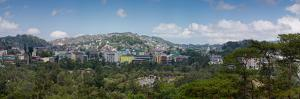 Morning view of hillside houses in the Baguio City, Luzon, Philippines