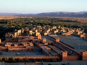 Morocco, General View Overlooking Tinerhir at Sunset, 1970s