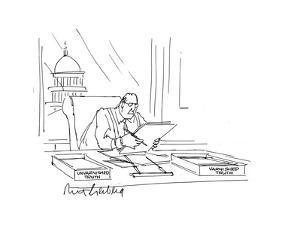 Businessman at desk - Cartoon by Mort Gerberg