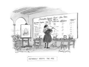 Leonardo Meets the I.R.S. - New Yorker Cartoon by Mort Gerberg