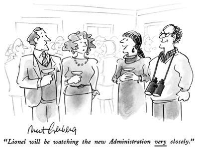 """Lionel will be watching the new Administration very closely."" - New Yorker Cartoon"