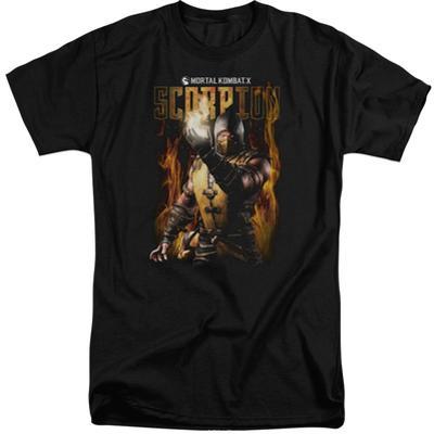 Mortal Kombat- Scorpion Calling Fire (Big & Tall)