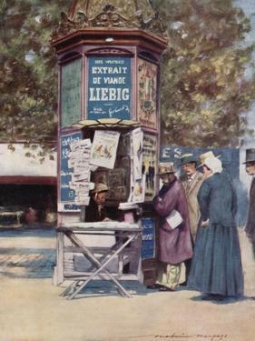 A Kiosque, Paris by Mortimer Ludington Menpes