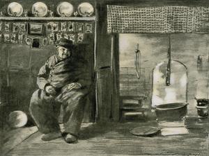 A Provincial Interior by Mortimer Ludington Menpes