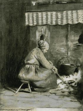 An Old-Fashioned Hearth by Mortimer Ludington Menpes