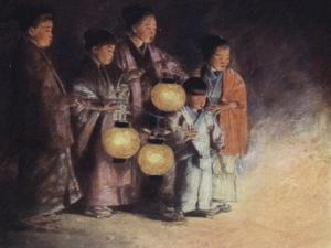 By the Light of the Lantern by Mortimer Ludington Menpes