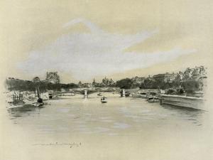 The Seine at Paris by Mortimer Ludington Menpes