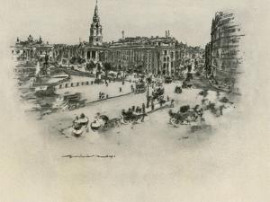 Trafalgar Square by Mortimer Ludington Menpes