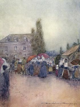 Breton Fair, in the Rain by Mortimer Menpes