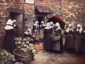 Brittany Veg. Market by Mortimer Menpes