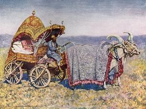 Indian Marriage Cart by Mortimer Menpes