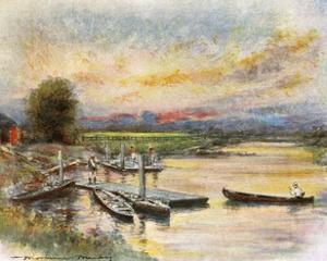 Oxford: Boathouse by Mortimer Menpes