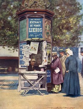 Paris, News Kiosk C20 by Mortimer Menpes
