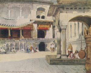 Sikh Temple Amritsar Interior of the Golden Temple by Mortimer Menpes