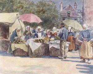 Street Market, Brittany by Mortimer Menpes