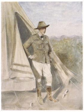 Winston Churchill British Statesman and Author as a Boer War Correspondent by Mortimer Menpes