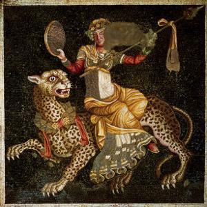 Mosaic of Dionysus Riding a Leopard circa 180 AD