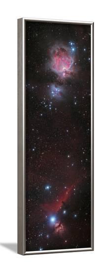 Mosaic of Orion Nebula and Horsehead Nebula--Framed Photographic Print