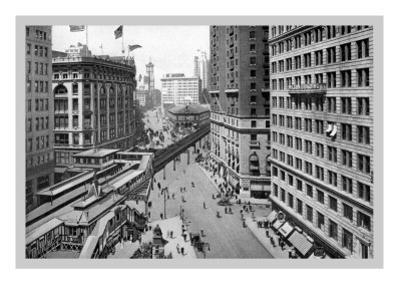 Looking Down Broadway Towards Herald Square, 1911