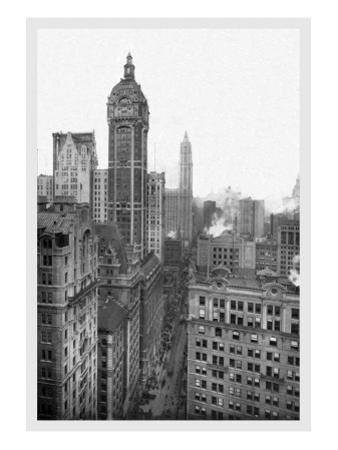 New York City with Singer Tower, 1911