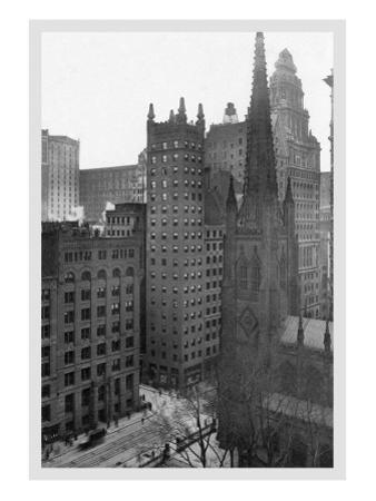One Wall Street and Trinity Church, 1911